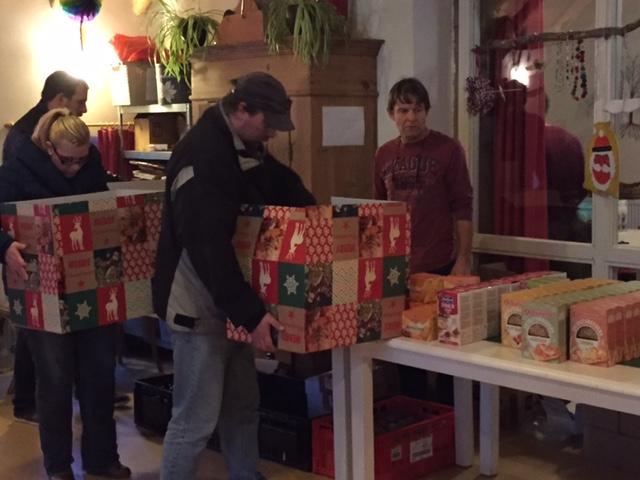 Kerstpakketten voor de bewoners